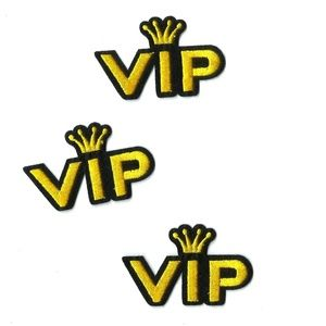 NEW VIP KING PATCHES IRON ON EMBROIDERED 3-PACK